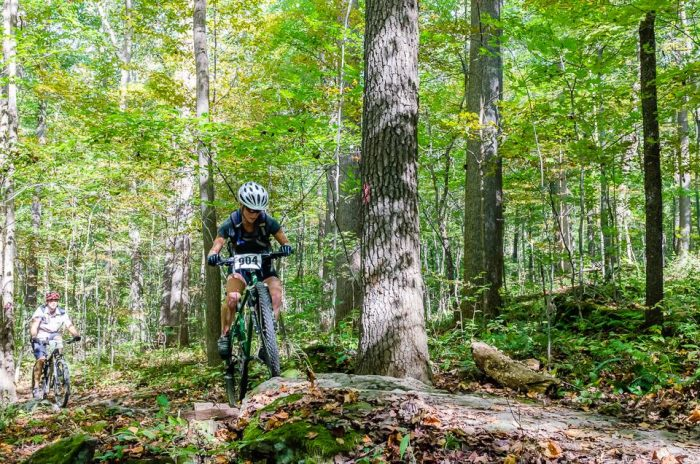 Jenni Hulburt mountain biking Moraine State Park Pennsylvania