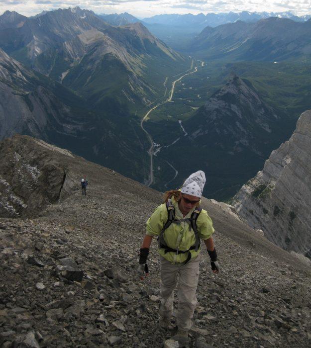 Jenni Hulburt climbing Kananaskis Country, Alberta, Canada