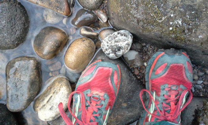 Jenni Hulburt runs at Slippery Rock Creek McConnell's Mill State Park Pennsylvania