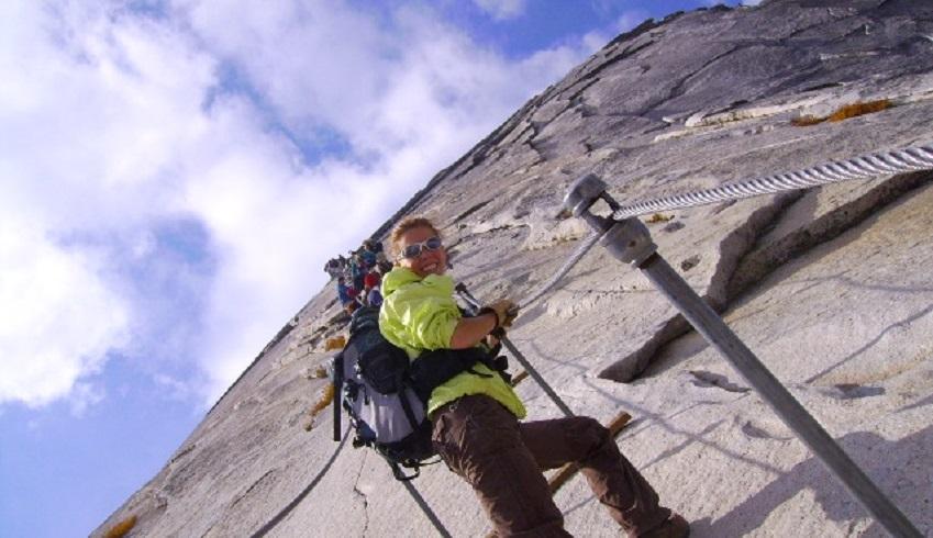 jenni hulburt climbing half dome yosemite